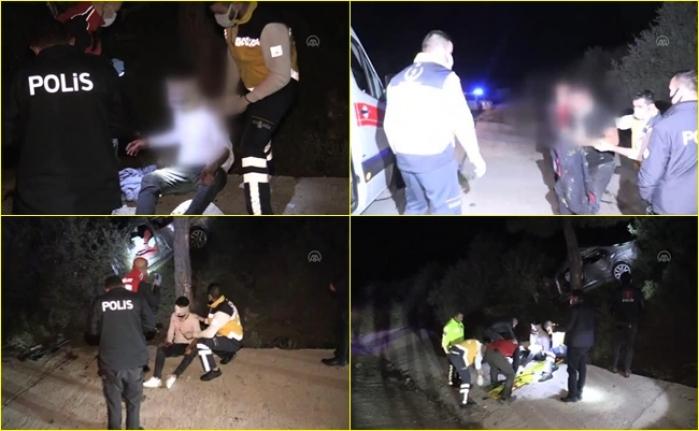 Bodrum'da Polisten Kaçarken Kaza Yapan 2 Kişi Yaralandı