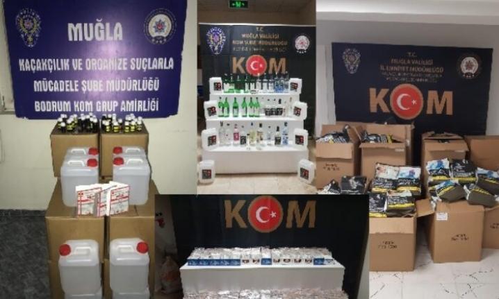Bodrum'da Sahte İçki ve Kaçakçılık Operasyonu