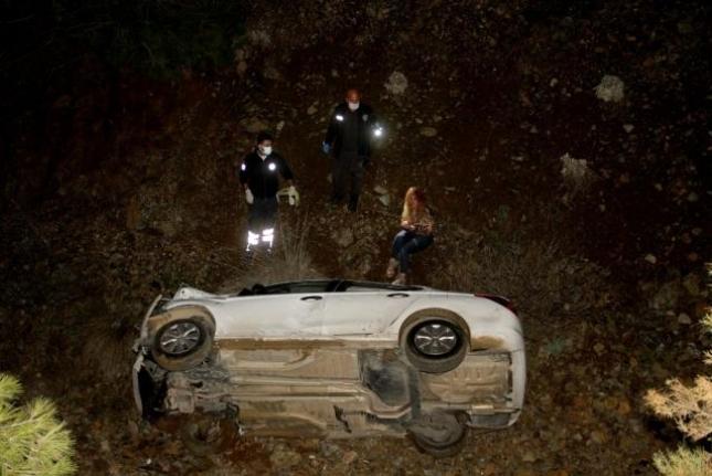 Fethiye'de Kaza Yapan Alkollü Kadın Ekiplere Zor Anlar Yaşattı