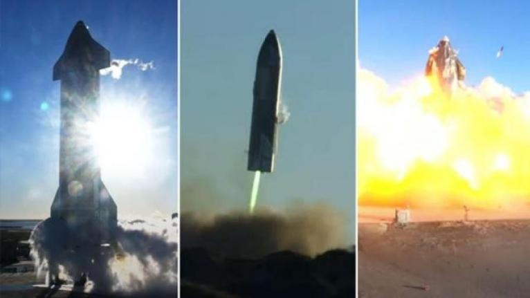 SpaceX'in Starship Prototipi Test Aşamasında Patladı