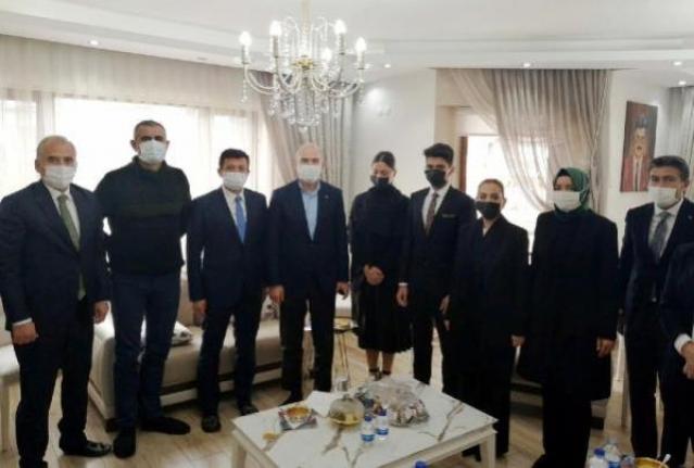 Süleyman Soylu'dan Yelda Erol Gökcan'a Başsağlığı Ziyareti