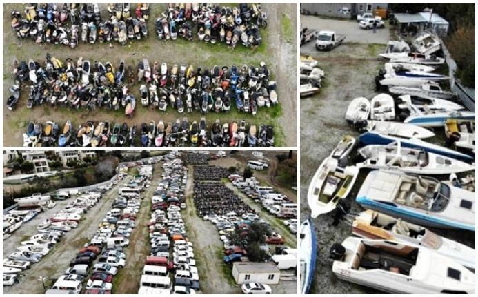 Bodrum'da Binlerce Motosiklet, Yüzlerce Tekne Çürümeye Terk Edildi