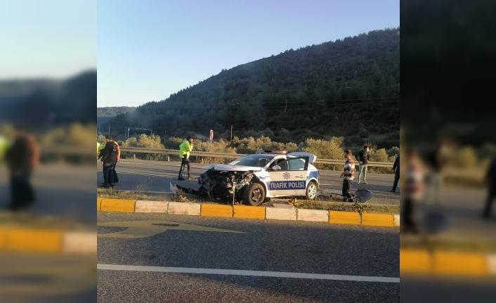 Ula'da Meydana Gelen Trafik Kazasında 1 Polis Yaralandı