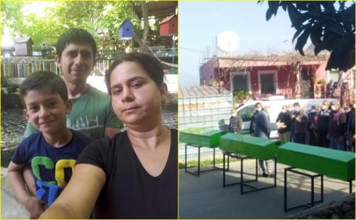 5 Kişinin Öldüğü Kazada Baba, Anne ve Oğul Yan yana Toprağa Verildi