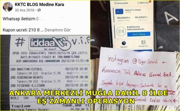 Sosyal Medyada 'Sahte Bahis Kuponu' İle Dolandırıcılığa 26 Gözaltı