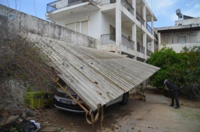 Bodrum'da Fırtına Hayatı Olumsuz Etkiledi