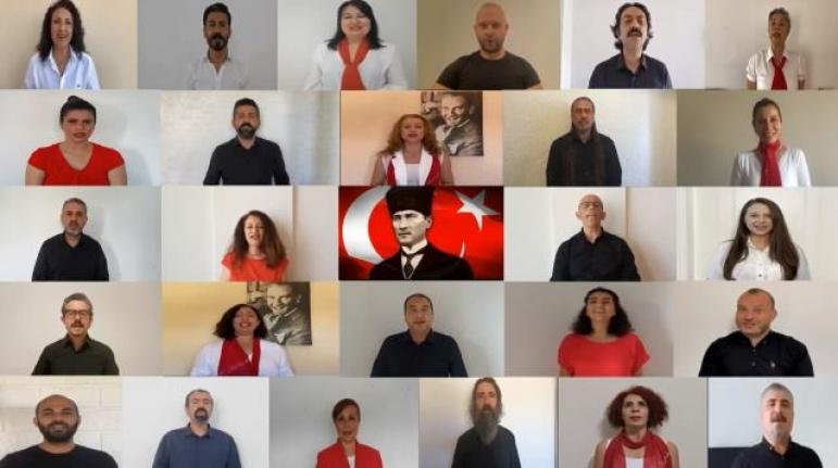 Bodrum'da Öğretmenlerden 19 Mayıs'a Özel Klip