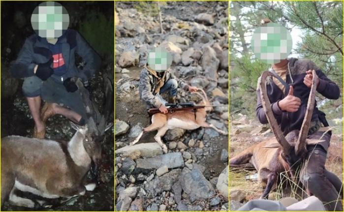 Muğla'dan Denizliye Giderek Kaçak Dağ Keçisi Avlayan 6 Kişiye 166 Bin 662 Lira Ceza