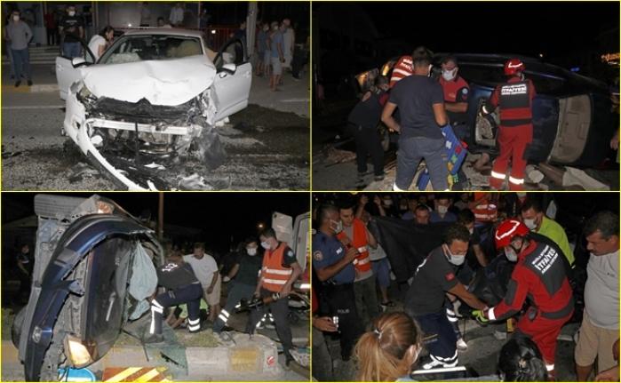 Fethiye'de İki Otomobilin Çarpıştığı Kazada 2'si Ağır 8 Kişi Yaralandı