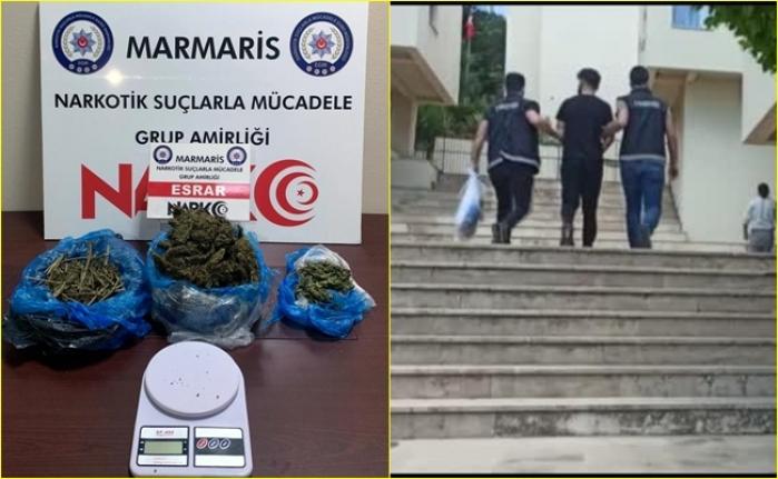 Marmaris'te Düzenlenen Operasyonda Yakalanan Uyuşturucu Taciri Tutuklandı