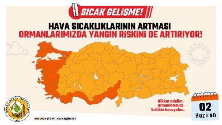 Orman Yangınlarında Ege ve Akdeniz İçin Kırmızı Alarm!