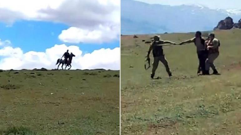 Savaşa Gider Gibi At Sırtında Sopalarla Kavgaya Koştular: 7 Yaralı
