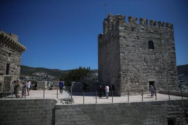 Bodrum Kalesi'ne Kurban Bayramı Tatilinde Ziyaretçi Akını