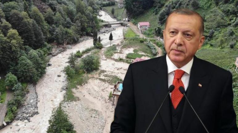 Erdoğan'dan Rize'deki Sel Felaketiyle İlgili Acı Sözler: Ağaçlar Sökülüp Çaylık Yapıldı