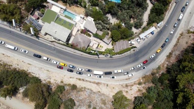Fethiye'de Bayram Tatili Yoğunluğu Drone ile Görüntülendi