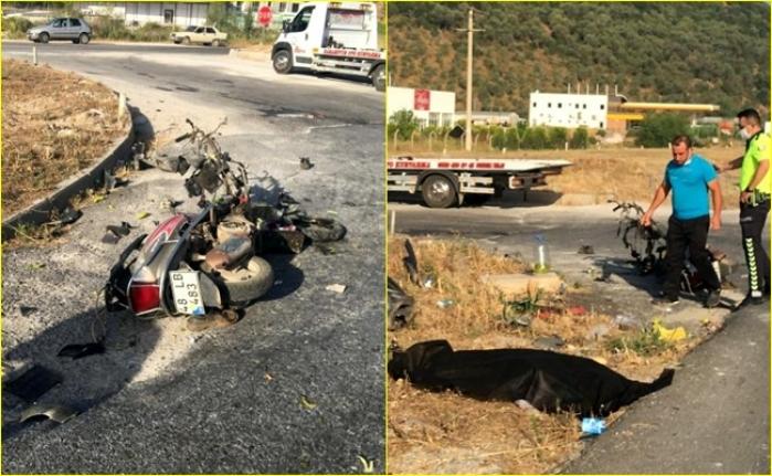 Milas'ta Trafik Kazası! Motosiklet Sürücüsü Vefat Etti