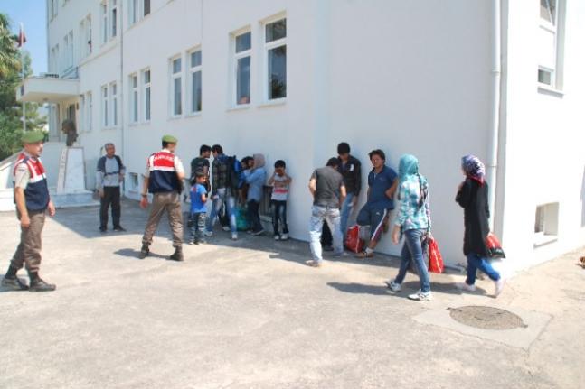 Seydikemer'de Kaçak Göçmenler Ormanda Yakalandı