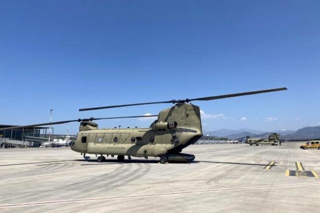 ABD Yangın Söndürme Helikopterleri Dalaman'da