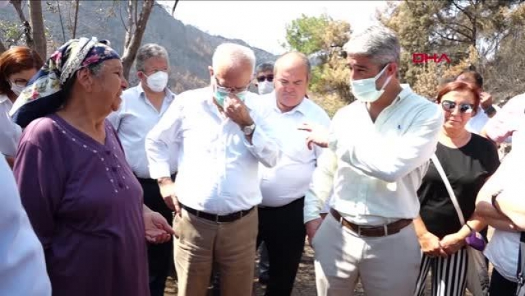 CHP'li Milletvekilleri Marmaris'teki Yangından Zarar Gören Vatandaşları Ziyaret Etti