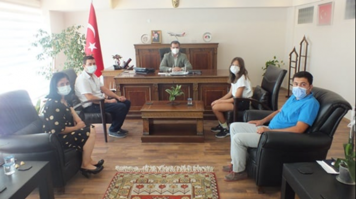 Dalamanlı Sporcular Kaymakam Güldoğan'ı Ziyaret Etti