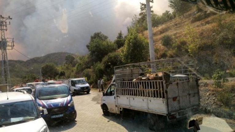 Köyceğiz'de Alevler Yerleşim Yerlerini Tehdit Etmeye Başladı