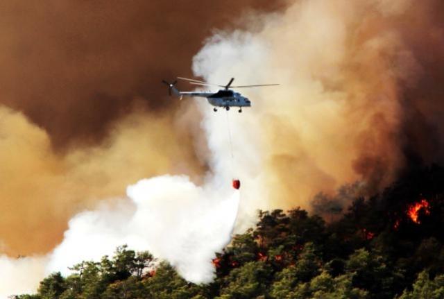 Orman Yangınlarında 6 Uçak 39 Helikopter Görev Aldı
