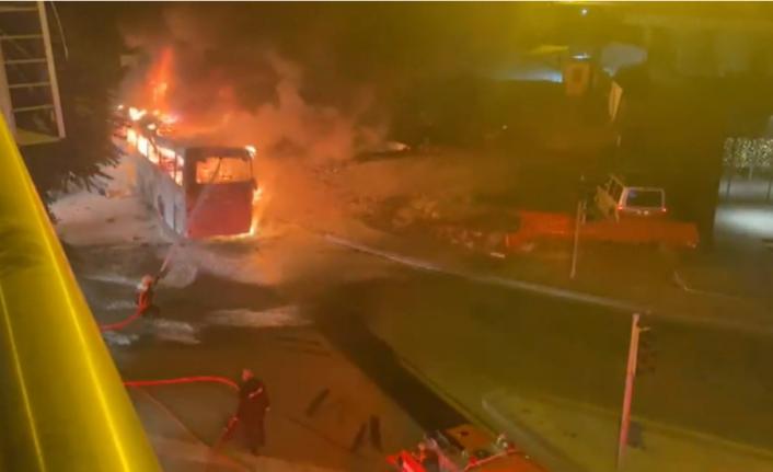 Ankara'da Feci Kaza: Yolcu Otobüsü Yandı!