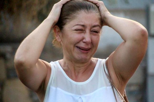 Bodrum'daki Evinin Yanışını Gözyaşlarıyla İzledi