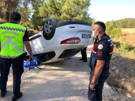 Fethiye'de Devrilen Otomobilin Sürücüsü Hayatını Kaybetti