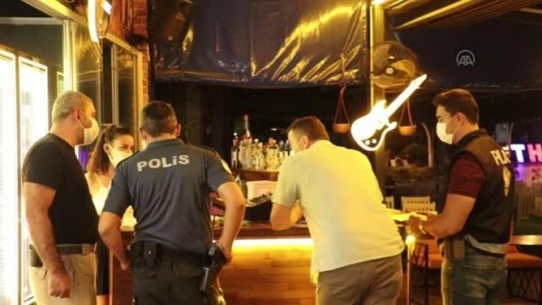 Fethiye'de Eğlence Mekanlarına Polis Denetimi