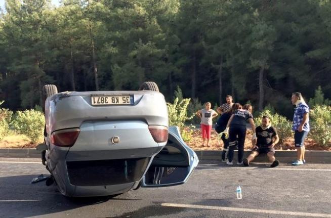 Yatağan'da Takla Atan Araçta 2 Kişi Yaralandı
