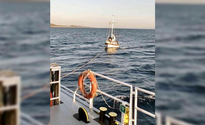 Bodrum'da Sürüklenen Tekne Kurtarıldı