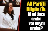 """AKP'li Vekilden İlginç Çıkış: """"18 Yıl Önce Araba Var Mıydı, Araba?"""""""