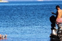 Bodrum'da Fırtına Sonrası Deniz Keyfi