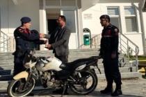 Jandarma Çalınan Motosikleti Buldu