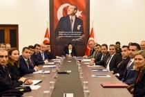 Vali Civelek Başkanlığında Okul Güvenliği Toplantısı Yapıldı
