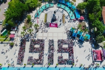 MİLAS'TA GUİNNESS REKORU İÇİN 1919 ÖĞRENCİ İP ATLADI