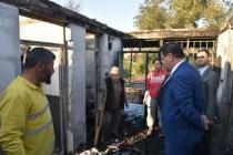Evleri Yangında Kül Olan Aileye Milas Belediyesi Sahip Çıktı
