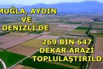 Muğla'da 24 Bin 170 Dekar Arazi Toplulaştırıldı