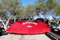 Bodrum'da Temizlik Öncesi İdlib Şehitleri Anıldı!