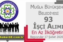 Muğla Büyükşehir Belediyesi 93 Kamu Personeli Alıyor!