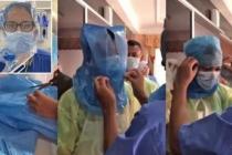 Sağlık Çalışanları Maske Kalmayınca Çöp Poşeti Takmaya Başladı