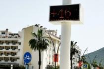 Marmaris'te Termometreler 46 Dereceyi Gösterdi