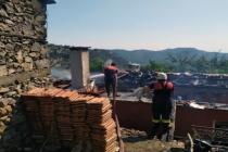 Dalaman'da Ahşap Binada Yangın Çıktı!