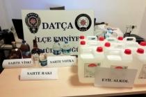 Datça'da, Motosiklette Sahte İçki Bulunduran Şahıs Gözaltına Alındı