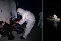 Muğla'da, Ulaşımı Olmayan Bölgede Mahsur Kalan 17 Sığınmacı Kurtarıldı
