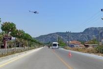 Muğla Jandarmasından Helikopterle Bayram Trafiği Denetimi