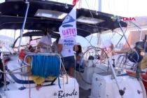 Denizci Kadınlar Şiddete Dikkat Çekmek için Yelken Açtı
