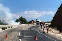 Muğla Denizli Karayolu'nda Kiralık Araç Alev Alev Yandı
