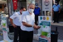 Başkan Uzundemir Dezenfekte İstasyonunun Tanıtımına Katıldı